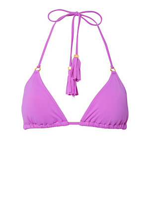 Nubia Tassel Tie Triangle Bikini Top- FINAL SALE