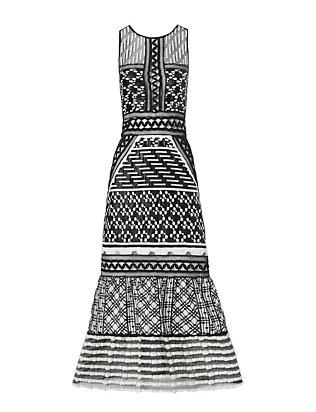 Organza Midi Dress