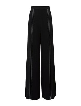 Oliviera High-Waisted Split Leg Pants