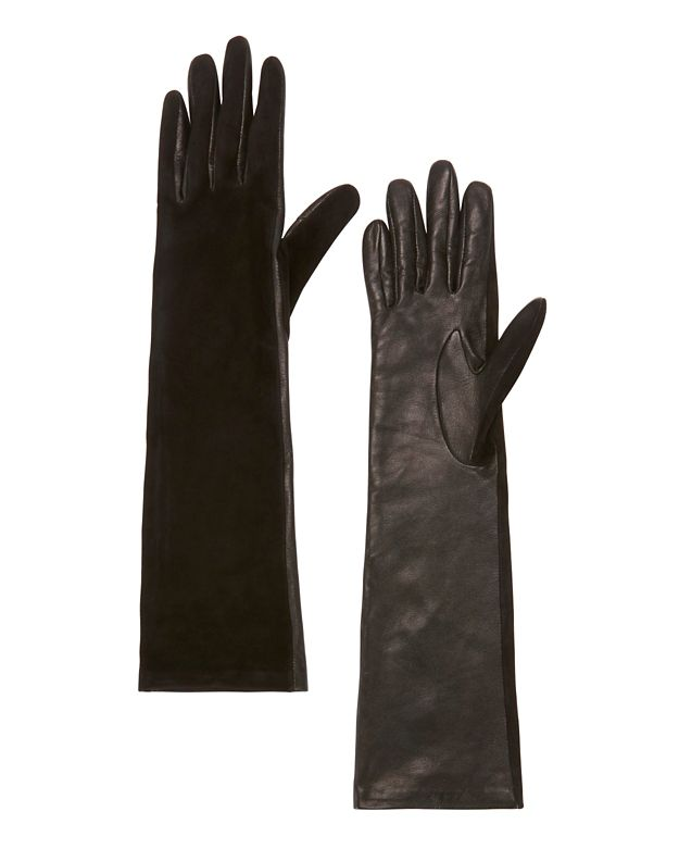 Agnelle Opera Long Glove: Black