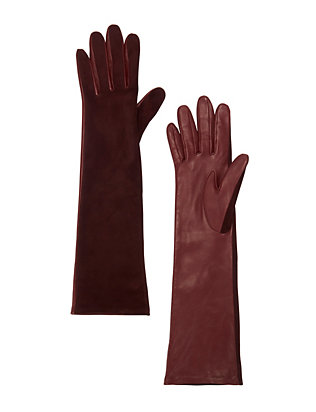 Agnelle Opera Long Glove: Burgundy
