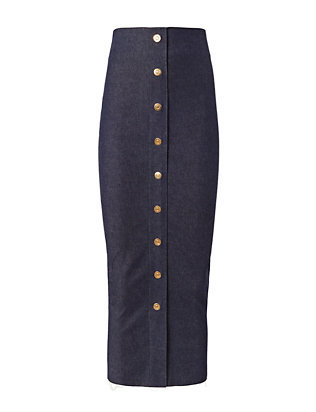 Solace London Denim Kriece Pencil Skirt