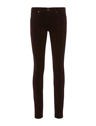 Brown Velvet Super Skinny Jeans