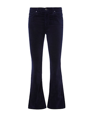 Jodi Velvet Crop Flare Jeans