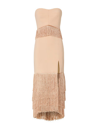 Strapless Fringe Dress