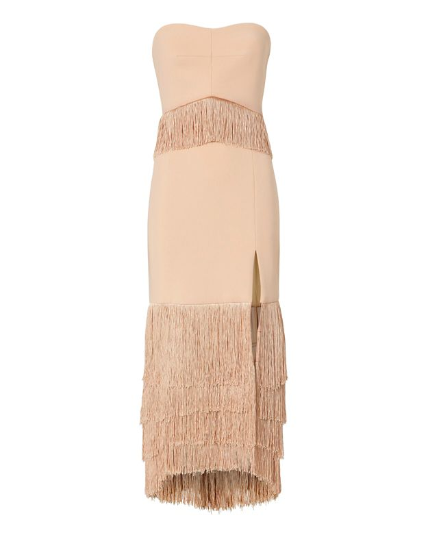 Jonathan Simkhai EXCLUSIVE Strapless Fringe Dress