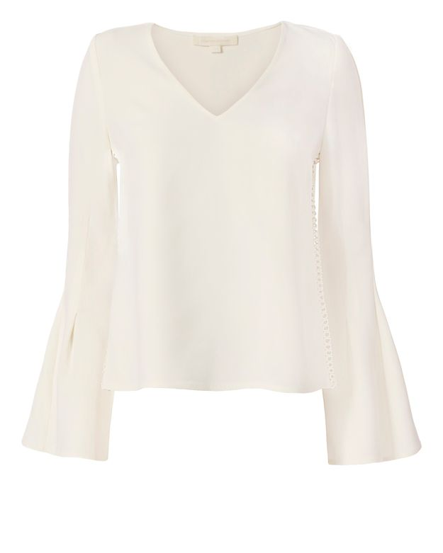 Jonathan Simkhai EXCLUSIVE Trumpet Sleeve Blouse