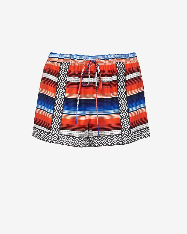 sale 		 	parker-applique-printed-drawstring-shorts by parker