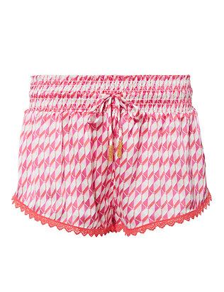 Paloma Pink Mosaic Print Shorts