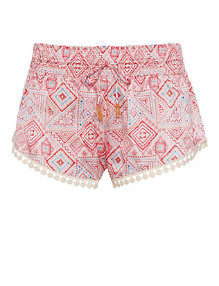 Paloma Blue Navajo Flamingo Silk Short