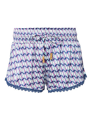 Paloma Purple Mosaic Print Shorts