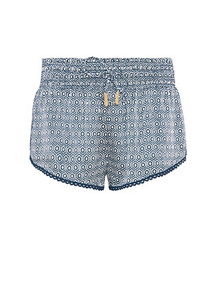 Paloma Blue Jewel Print Silk Short