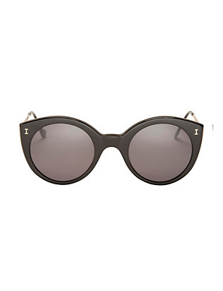 Illesteva EXCLUSIVE Palm Beach Sunglasses: Black/Grey