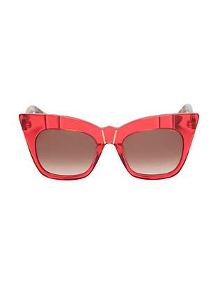 Kohl & Kaftans Red/Tortoise Sunglasses