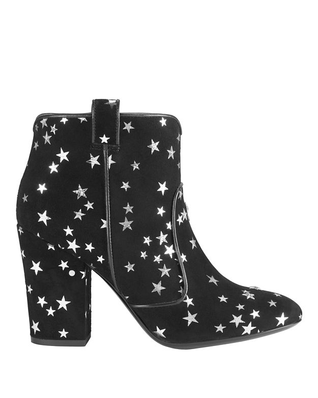 Laurence Dacade Pete Silver Star Suede Booties: Black