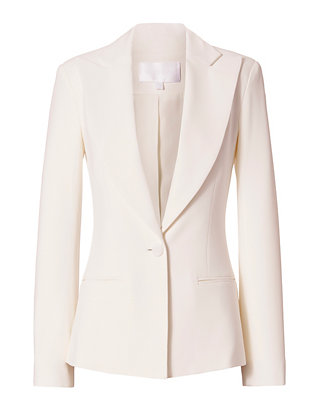 Stretch Cady Blazer: White