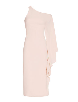 One Shoulder Dress: Pale Blush