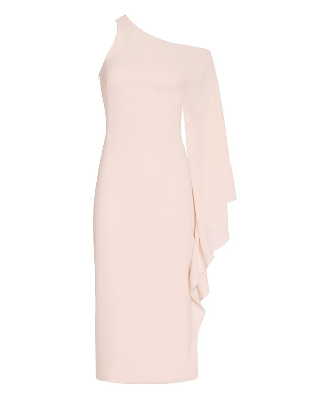 Cushnie Et Ochs One Shoulder Dress: Pale Blush