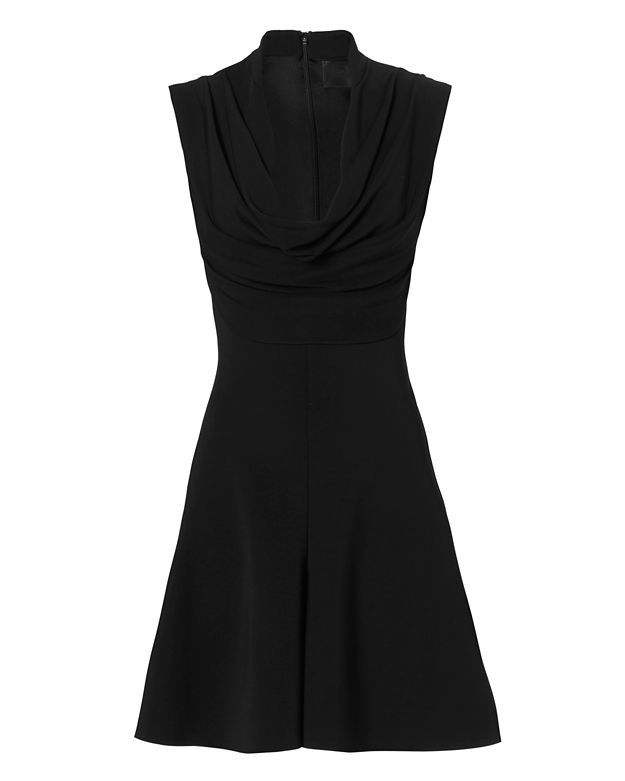 Cushnie Et Ochs Draped Neckline Dress: Black