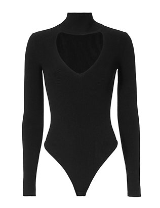 Turtleneck Bodysuit: Black- FINAL SALE
