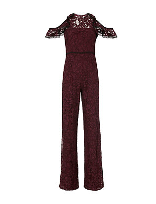 Philippe Cold Shoulder Lace Jumpsuit