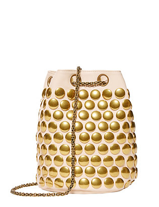 Jerome Dreyfuss Popeye Studded Bucket Bag: Ivory