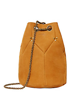 Jerome Dreyfuss Popeye Grommet Leather Bucket Bag