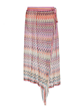 Missoni Fringe Trim Wrap Pareo: Pink