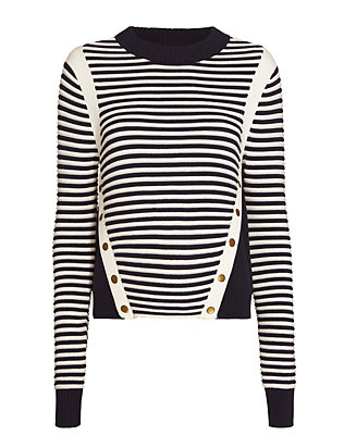 Veronica Beard Milou Ottoman Stripe Sweater