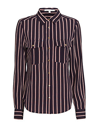 Veronica Beard Zampa Sailor Stripe Blouse
