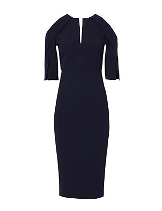 Roland Mouret Keeling Cold Shoulder Dress