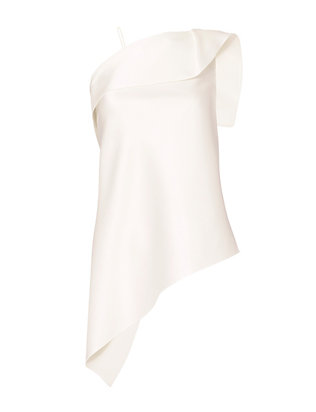 Roland Mouret Satin Asymmetric Top