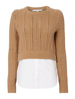 Veronica Beard Carli Combo Sweater