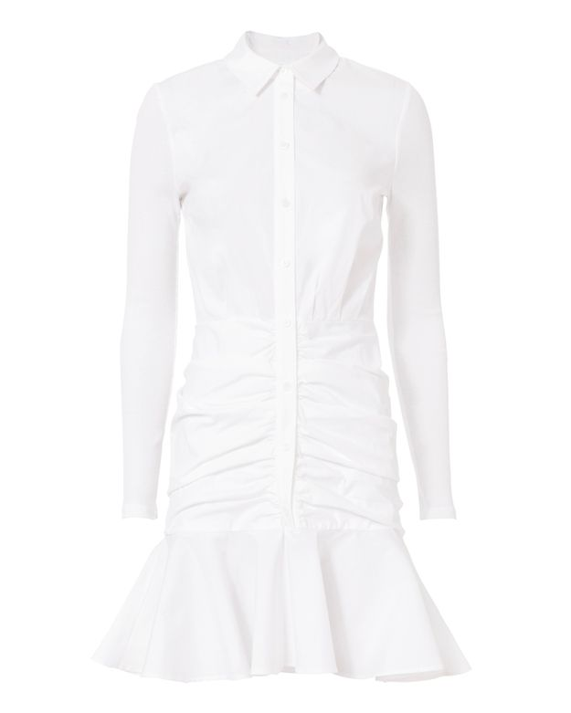Veronica Beard Century Baby Rib Shirtdress