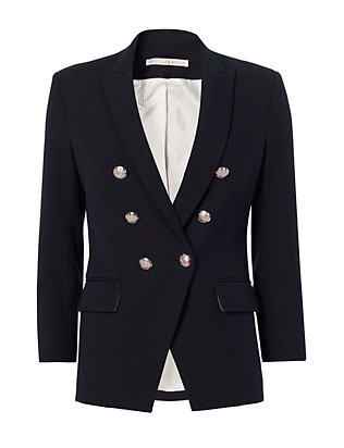 Veronica Beard Empire Cut Away Blazer