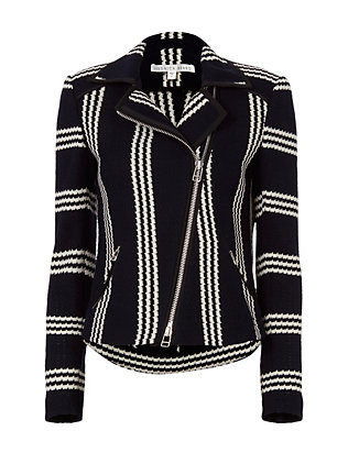 Bailey Striped Moto Jacket