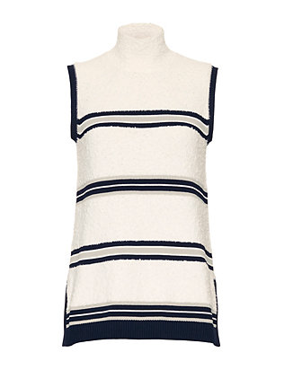 Derek Lam Combo Sleeveless Knit Top