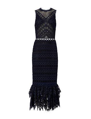 Combo Organza Lace Trumpet Dress