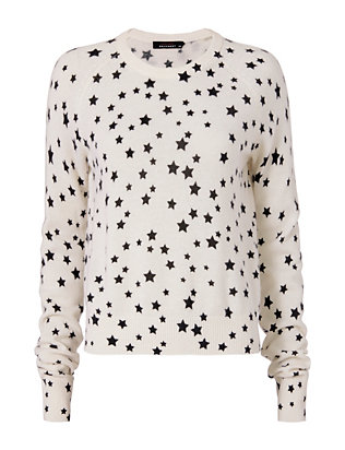 Equipment x Kate Moss Ryder Star Pattern Sweater