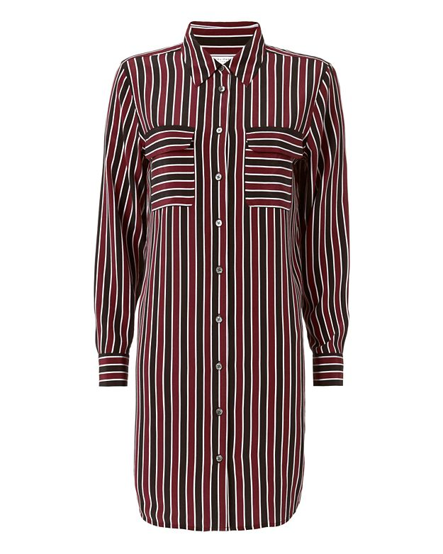 Equipment Slim Signature Stripe Dress