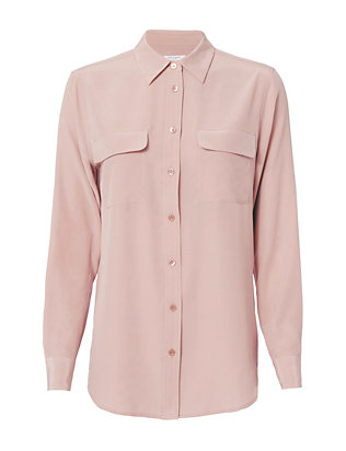 Equipment Slim Signature Blush Blouse