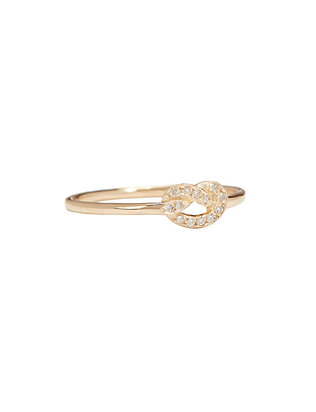 Ariel Gordon Diamond Love Knot Ring