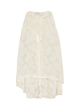 Derek Lam 10 Crosby Tassel Tie Sleeveless Blouse