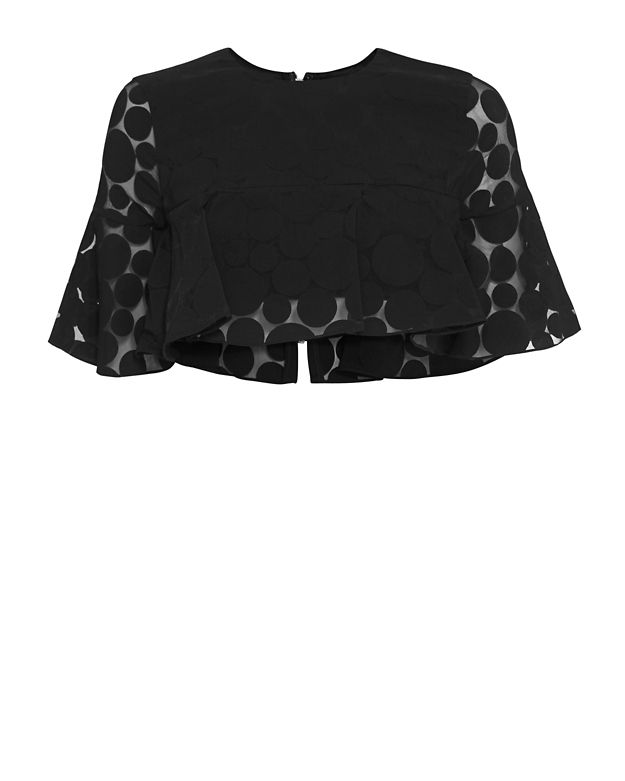 Cushnie Et Ochs Polka Dot Pattern Crop Top