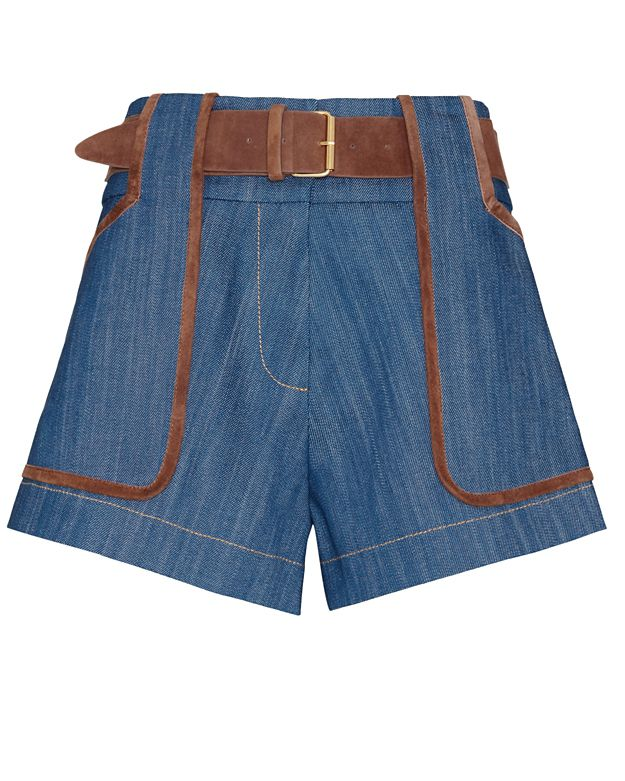 Derek Lam 10 Crosby EXCLUSIVE Belted Denim Shorts