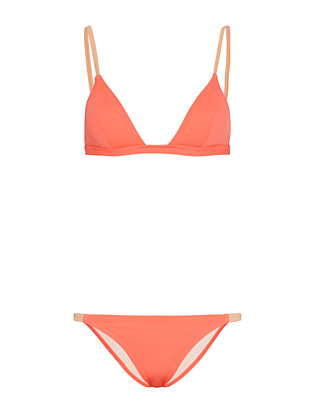 Solid & Striped Morgan Triangle Bikini: Coral- FINAL SALE