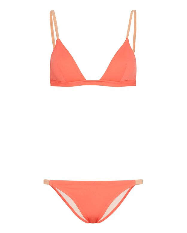 Solid & Striped Morgan Triangle Bikini: Coral