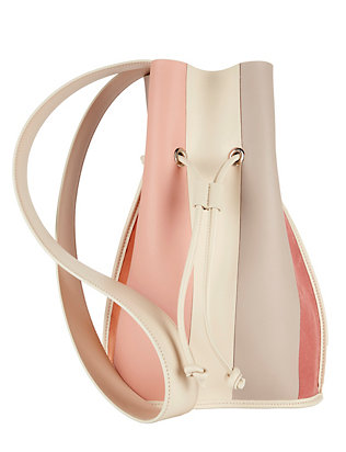 Derek Lam 10 Crosby Leather & Suede Bucket Bag