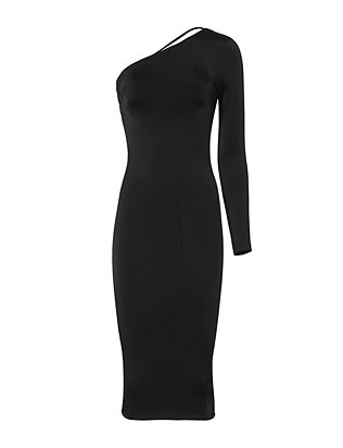 Cushnie Et Ochs One Shoulder Strappy Dress
