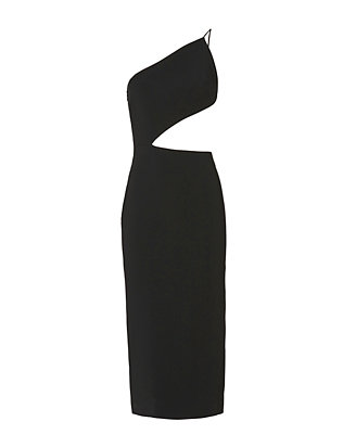 Asymmetric Bodice Dress